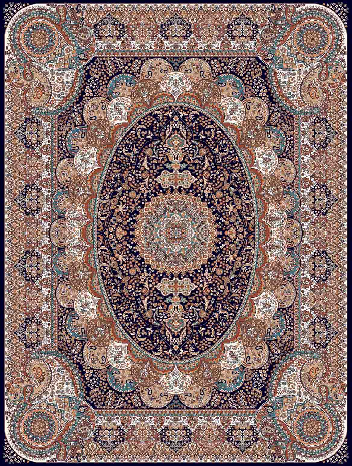 فرش کاشان طرح عرشیا