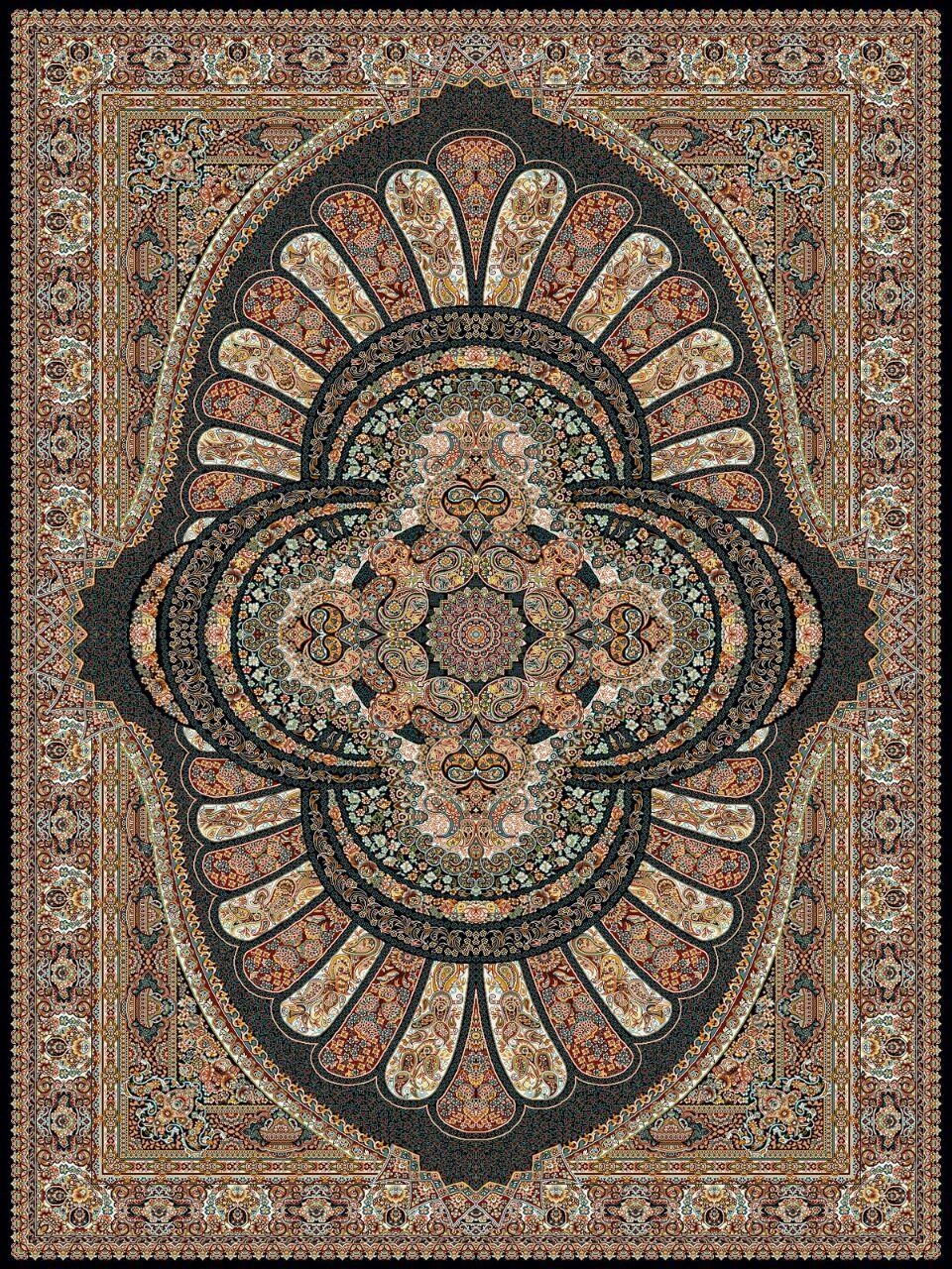 فرش کاشان - 700 شانه - طرح رویال