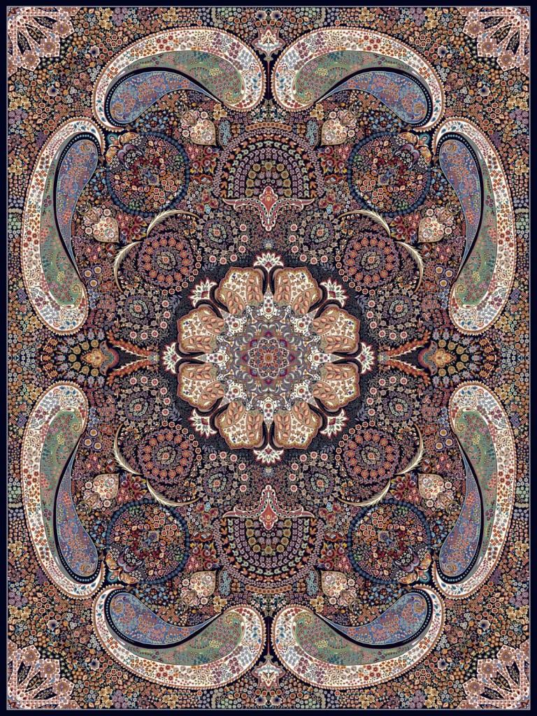 فرش کاشان طرح ملودی