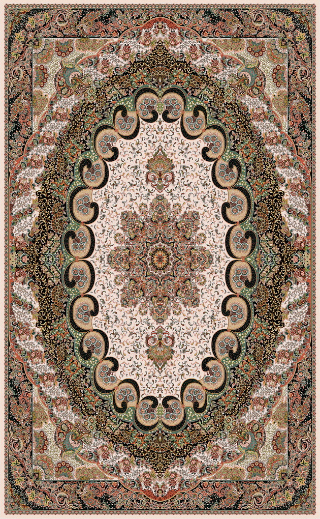 Kashan Carpet Atrin Design
