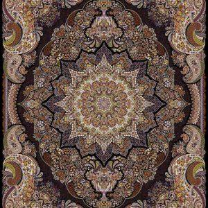 فرش ۱۰۰۰ شانه طرح ساغر سرمه ای