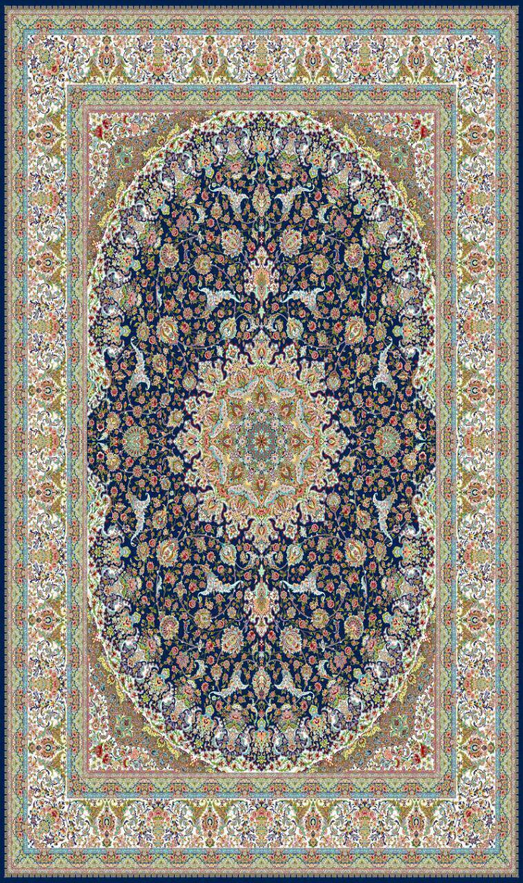 فرش کاشان - 1200 شانه - طرح مهشاد