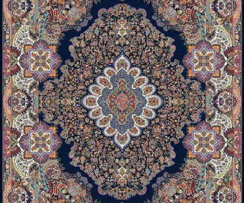 فرش کاشان با رنگ بندی
