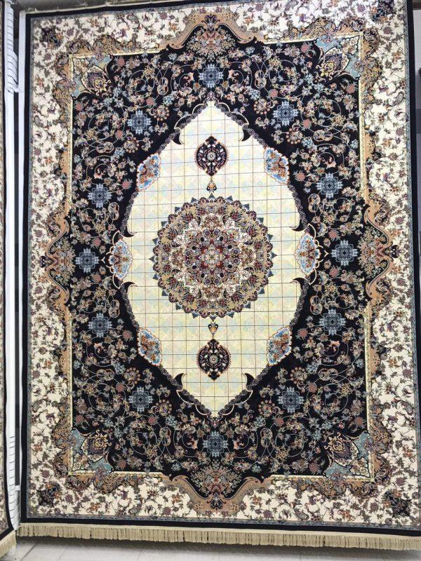 فرش کاشان - ۱۲۰۰ شانه - طرح مجنون