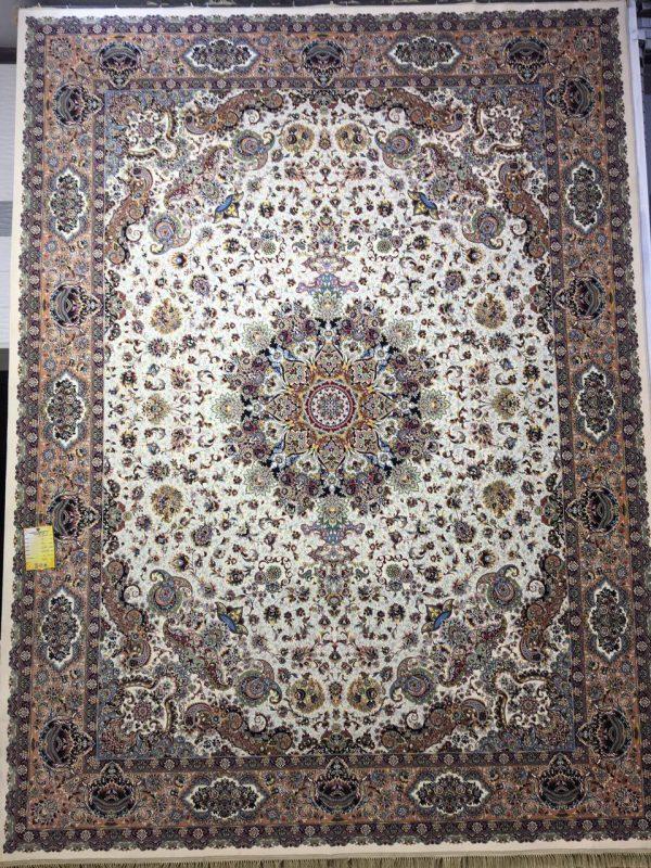 فرش کاشان - ۱۲۰۰ شانه - طرح قره باغی
