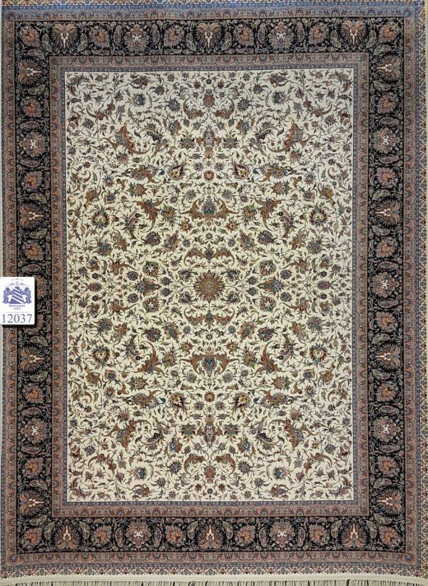 فرش کاشان - ۱۲۰۰ شانه - طرح افشان