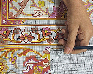 Coloring Carpet Kashan Map
