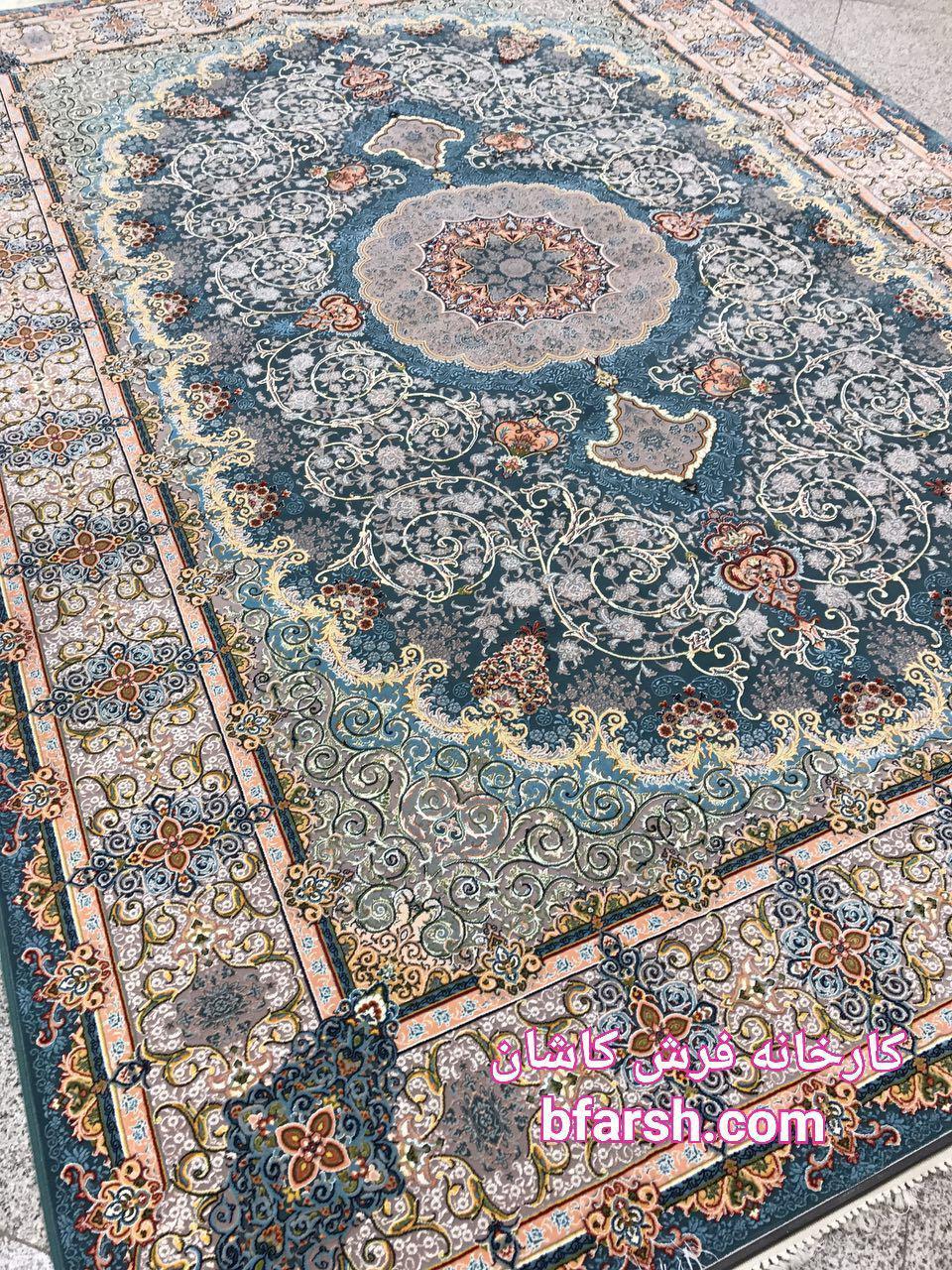 فرش گل برجسته کاشان
