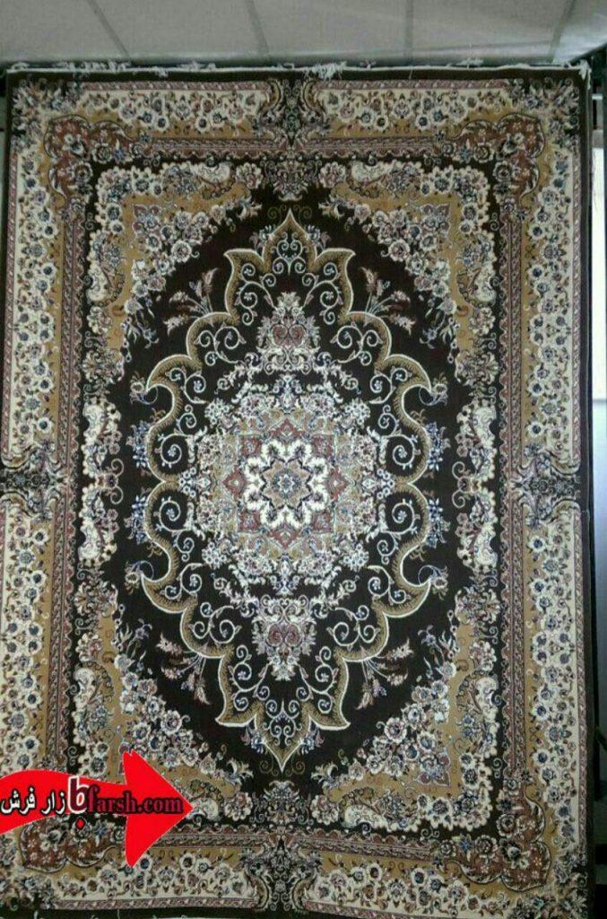 فرش کاشان - 500 شانه - طرح مروارید گردویی