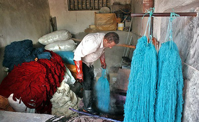 Familiarity With The Materials Used In Painting The Raw Materials Of Carpet Weaving