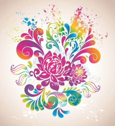 Colorful Flower Background Vector