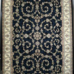 فرش کاشان – ۱۲۰۰ شانه برجسته طرح افشان اسلیمی
