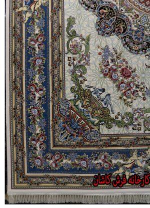 فرش مدل برجسته کرم ۱۲۰۰ شانه