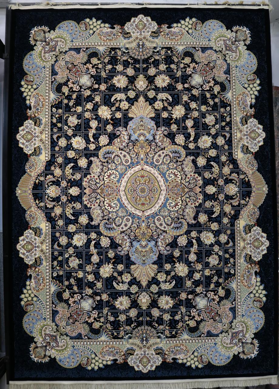 فرش کاشان – ۱۲۰۰ شانه برجسته طرح طاها