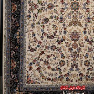 فرش کاشان - 1200 شانه برجسته طرح افشان نگار