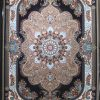 فرش کاشان – ۱۰۰۰ شانه مدل نسترن گردویی