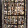 فرش کاشان – ۱۰۰۰ شانه مدل گلبوته سرمه ای