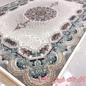 فرش کاشان – ۱۲۰۰ شانه مدل هالیدی کرم