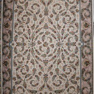 فرش کاشان – ۱۲۰۰ شانه مدل افشان اسلیمی گل افشان