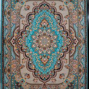 فرش کاشان – ۱۲۰۰ شانه مدل بهشت ابی
