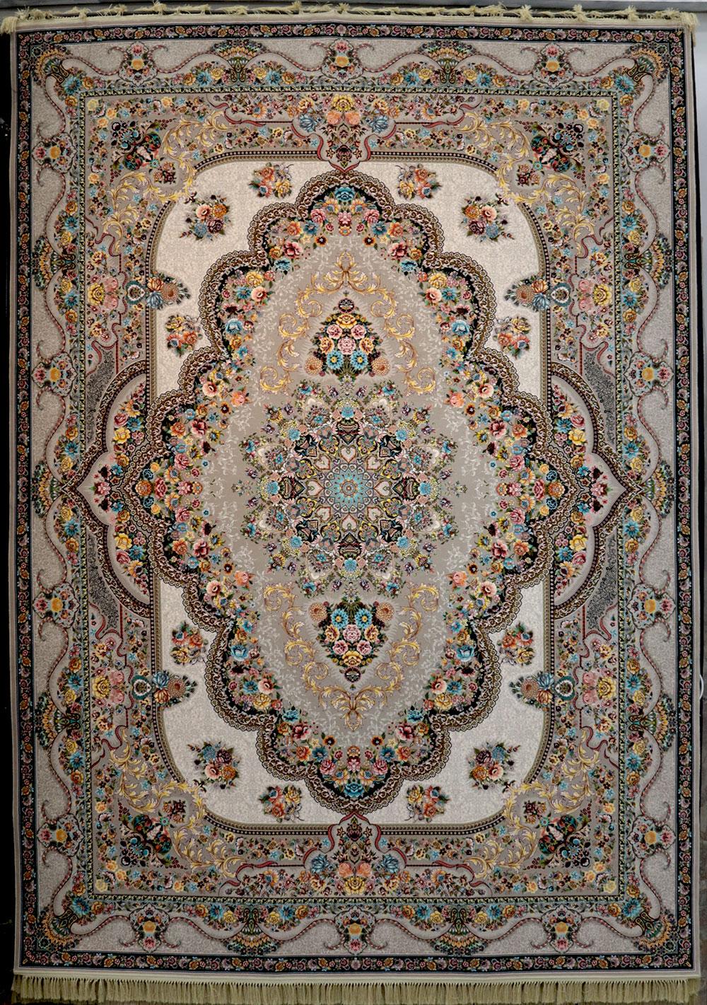 فرش کاشان- نقشه بهشت ترمه ای 1200 شانه