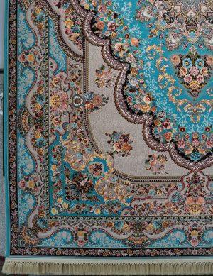 فرش ۱۲۰۰ شانه نقشه بهشت ابی
