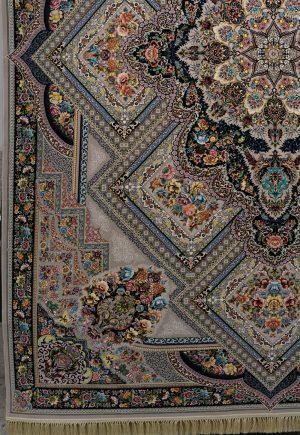 فرش ۱۲۰۰ شانه گل ارا ترمه ای
