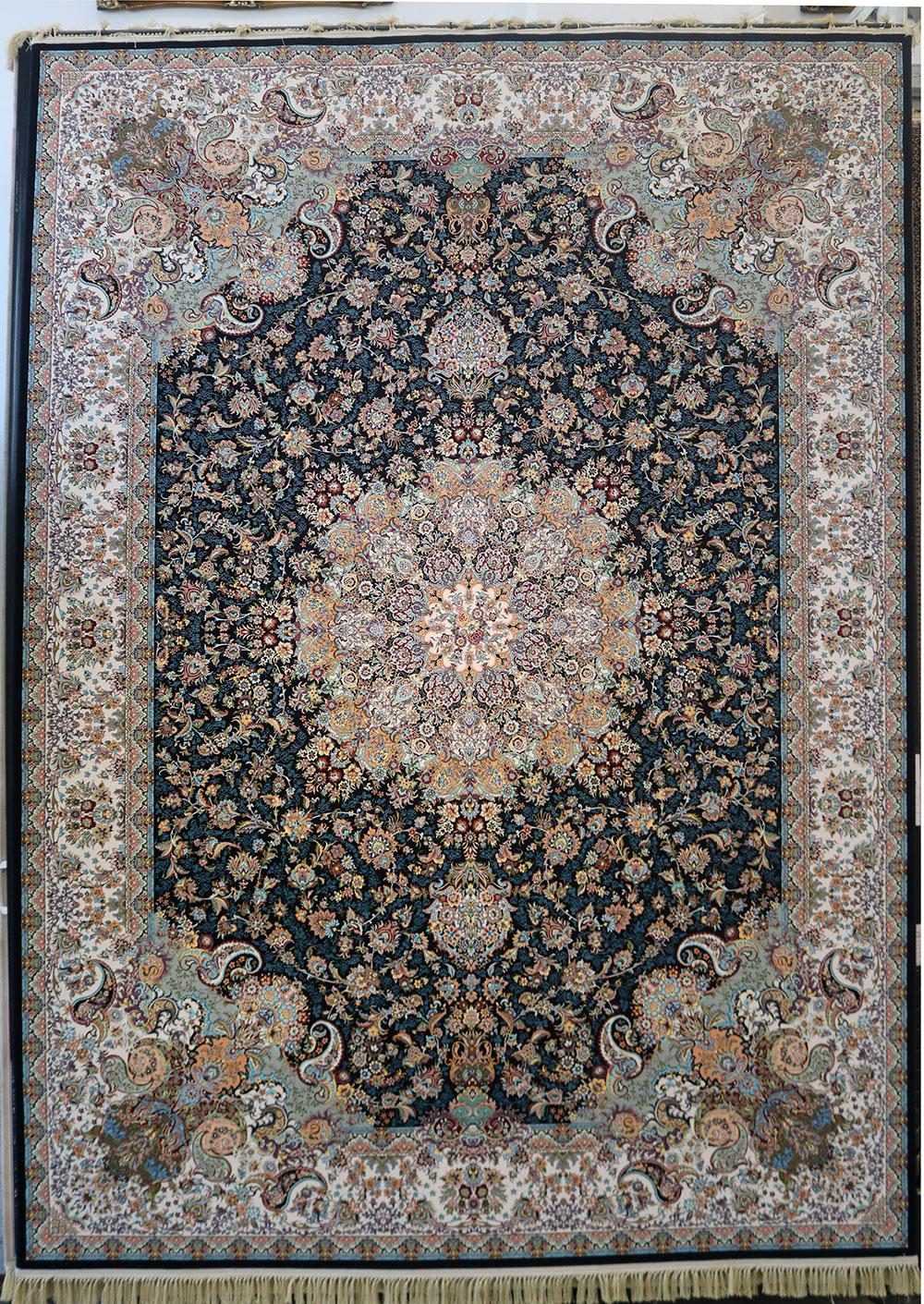 فرش کاشان- نقشه هزار گل ۱۲۰۰ شانه