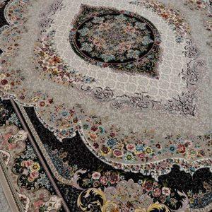 فرش کاشان  نقشه مهر گل ۱۲۰۰ شانه