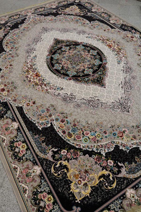 فرش کاشان- نقشه مهر گل 1200 شانه