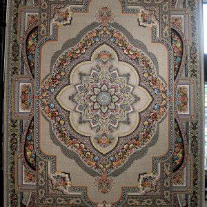 فرش کاشان- نقشه باغ معلق ۱۲۰۰ شانه ترمه ای
