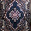 فرش کاشان – ۵۰۰ شانه – طرح سلطان سرمه ای