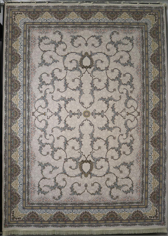 فرش  1200 شانه برجسته نقشه افشان اسلیمی