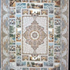 فرش کاشان- نقشه چهار فصل ۱۲۰۰ شانه