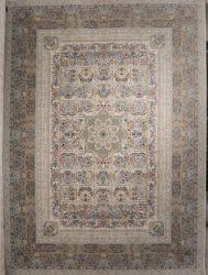 فرش ۱۲۰۰ شانه کاشان نقشه خاتون کرم برجسته