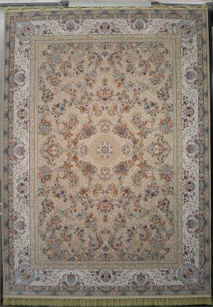 فرش ۱۲۰۰ شانه کاشان نقشه باغ گل بژ