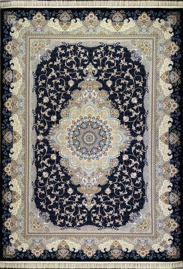 فرش مانلی سرمه ای
