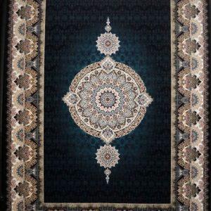 فرش کاشان – ۱۰۰۰ شانه نقشه کادو سرمه ای