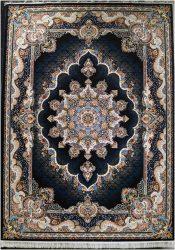 فرش طرح نیلا سرمه ای ۷۰۰ شانه