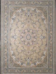 فرش کاشان کد ۳۲۱۵ رنگ بژ