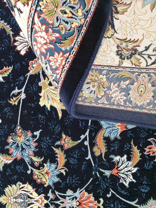 فرش کاشان گلبرجسته گلفرنگ