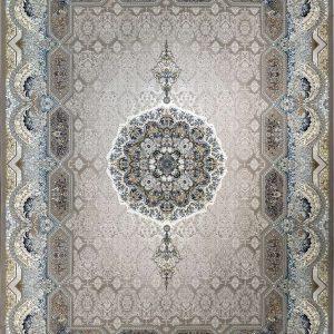 فرش نقشه هالیدی رنگ بژ گلبرجسته