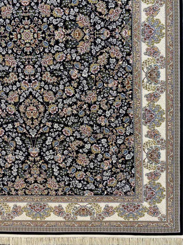 فرش هفتصد شانه شاهان سرمه ای