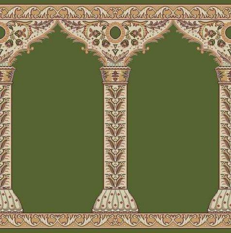 فرش سجاده ای سبز بدون ترنج