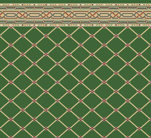 فرش سجاده ای تشریفاتی سبز