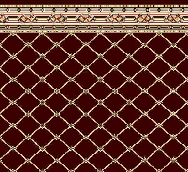 فرش سجاده ای تشریفاتی قرمز