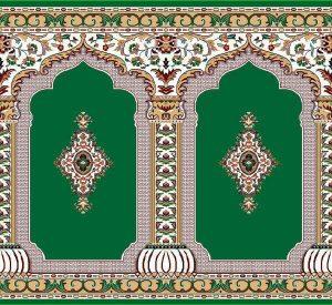 فرش سجاده ای رضوان سبز