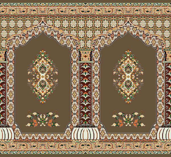فرش سجاده ای گل رضوان گردویی