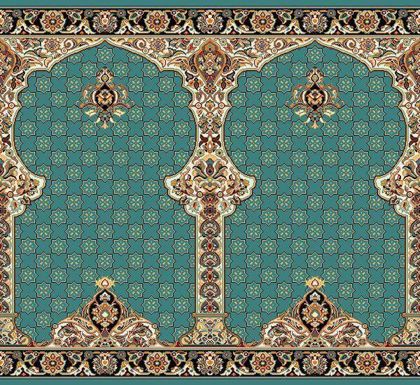 فرش سجاده ای ابی مربع