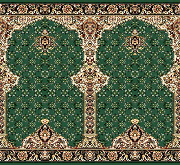 فرش سجاده ای سبز